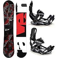 Raven Snowboard Set: Snowboard Decade Carbon + Bindings s220 Black L
