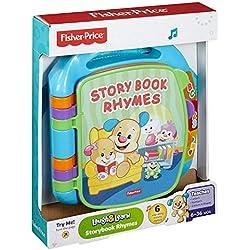 Fisher-Price Libro electrónico Educativo para bebé Laugh and Learn, (CDH26); Juguete con Palabras, Letras y números, Apto para niños de 6 Meses en adelante