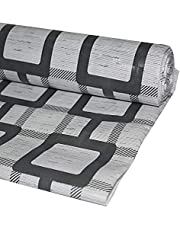 Kuber Industries Checkered PVC Wardrobe Kitchen Drawer Shelf Mat - Grey