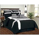 Bella bed sheet(black, grey, white,228.6...