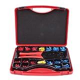 Crimpzange Aderendhülsen Tasche 552 tlg Kabelverbinder Isolierte Kabelschuhe Set