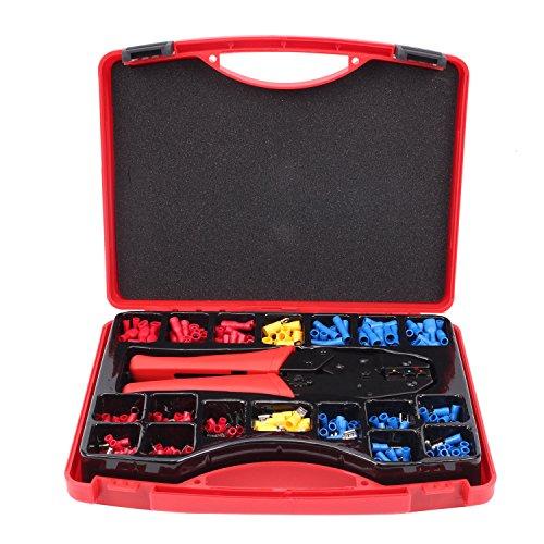 CCLIFE 25x Crimpzange Aderendhülsen Tasche 552 TLG Kabelverbinder