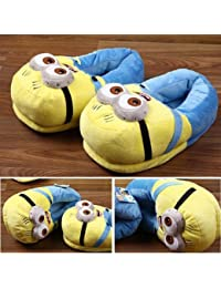 CARE CASE Girl's Blue Despicable Me 2 Minion Plus Slippers- Medium