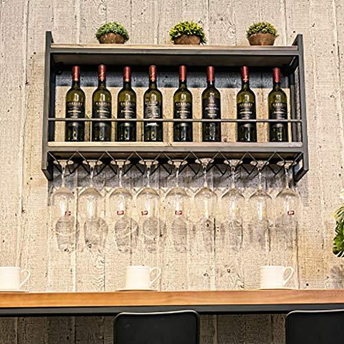 Wand Weinschrank Wand-Weinregal Wandbehang Display-Ständer Weinglas Halter verkehrt herum...