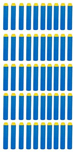 BuzzBee Long Distance 50 Darts Nachfüllpack - kompatibel mit Nerf Blastern