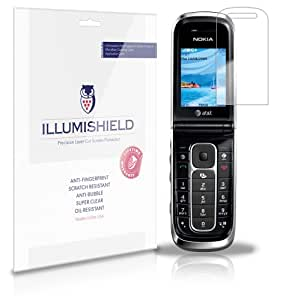 iLLumiShield - Nokia 6350 Screen Protector Japanese Ultra Clear HD Film with Anti-Bubble and Anti-Fingerprint - High Quality (Invisible) LCD Shield - Lifetime Replacement Warranty - [3-Pack] OEM / Retail Packaging