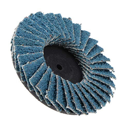 KESOTO Fächerscheiben Lamellenscheibe Schleifmopteller Fächerschleifscheibe Ø75mm / 50mm, 80 Körnung - blau 2 Zoll