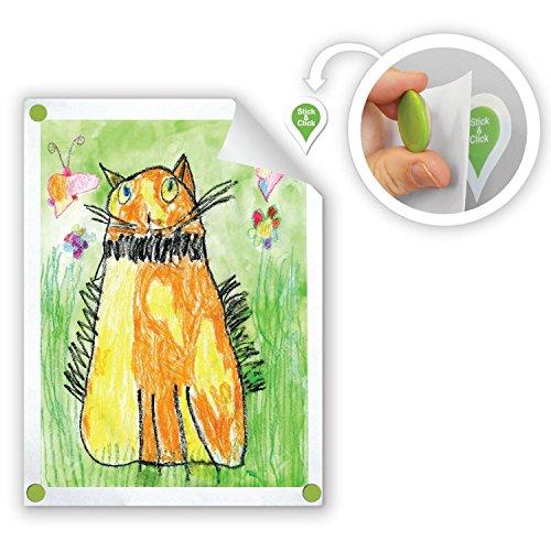 All In One-edelstahl-kühlschrank (goodhangups für Kinder mit mit magnetischem Kleiderbügel, wiederverwendbar, mit Wand, mit Hai mit 8Stück, mehrfarbig, GHK008)