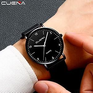 DIKHBJWQ Fitness Tracker Uhren Analog-Digital Smartwatch Retro Armband Quarz Uhr Intelligente Armbanduhr Luxusuhren Quarzuhr Edelstahl Dial Casual Armband Weckerfür Herren
