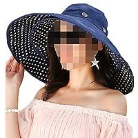 Crushable Hats for Men Straw Packable Extra Large Side Edge Rim Border Boundary Brim} Floppy Sun Cha