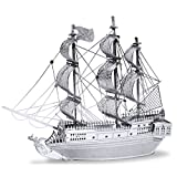 Unbekannt Fascinations Metal Earth MMS012 - 502600, Black Pearl Pirate Ship, Konstruktionsspielzeug, 2 Metallplatinen, ab 14 Jahren
