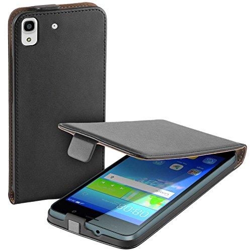yayago Flip Tasche für Huawei Y6 Schutzhülle Flip Case Hülle Klapphülle Schwarz