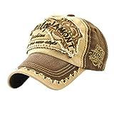 Homyl Retro Baseballcap Baseballmütze Mützen Caps Baseball Cap Motorrad Bikercap Basecap Hip Hop Baseballkappe Sonnehut - Kaffee, wie beschrieben