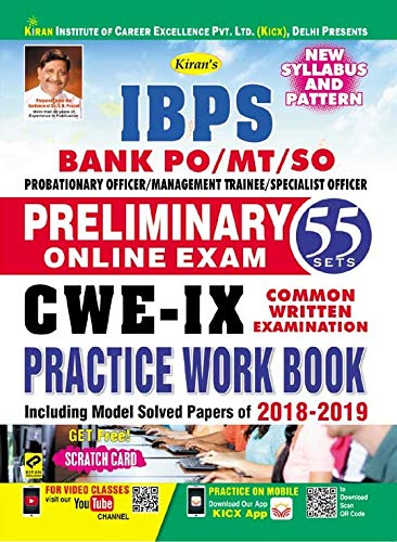 Kiran IBPS Bank PO/MT/SO Preliminary Online Exam CWE IX Practice Work Book (2655)