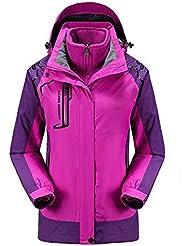 HHORD Veste de deux pièces amovibles Windproof isolation respirante extérieure alpinisme couple modèles Soft Shell vestes 3 en 1 , 3xl