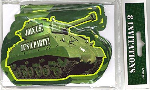 eburtstag Einladungen mit Umschlägen (Camouflage-einladungen)