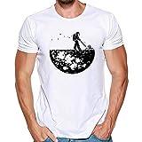 WWricotta Unisex Printing Tees Shirt Short Sleeve T Shirt Blouse (Weiß,M)