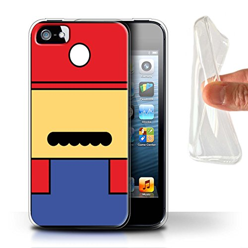 Stuff4 Gel TPU Hülle / Case für Apple iPhone 5/5S / Mario Inspiriert Muster / Retro-Spiele Figuren Kollektion