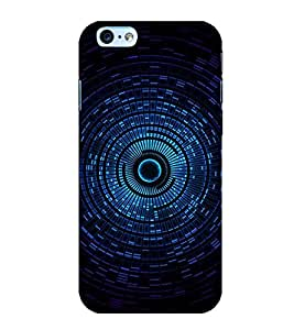 Blue Circular Pattern 3D Hard Polycarbonate Designer Back Case Cover for Apple iPhone 6 Plus :: Apple iPhone 6+