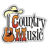 SkyBug Country Western Music Bumper Sticker Vinyl Art Decal for Car Truck Van Window Bike Laptop