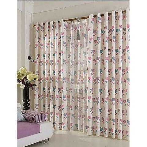 CLL/ dos paneles europeo cortinas ramio de algodón manera contratante impresos , tab top-2* , tab top-2*