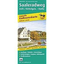 Saale-Radwanderweg: Leporello Radtourenkarte mit Ausflugszielen, Einkehr- & Freizeittipps sowie Entfernungen, Etappen, Höhenprofil, wetterfest, ... 1:50000 (Leporello Radtourenkarte / LEP-RK)