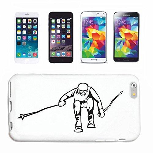 """Preisvergleich Produktbild Handyhülle iPhone 5 / 5S """"Ski Skifahren Apres Ski Slalom Mega Sports wow"""" Hardcase Schutzhülle Handycover Smart Cover für Apple iPhone ... in Weiß ... Schlank und schön, das ist unser HardCase. Das Case wird mit einem Klick auf deinem Smartphone befestigt"""