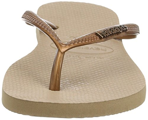 Havaianas Infradito Donna Slim Logo Metallic Beige (Rose/Dark Copper 8547)