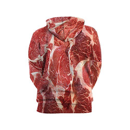 VENI MASEE Unisex 3D Digital Druck Casual Pullover Hoodie Sweatshirt für Liebhaber(M-2XL) Steak