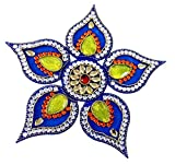 #9: Unique Arts Beautiful Blue Petals Acrylic Rangoli - AR108