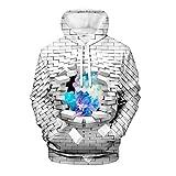 Photo de WEIYI BO maoyi Unisex Pullover Hoodie 3D Print Creative Wall Series Hooded Sweatshirts par WEIYI BO maoyi
