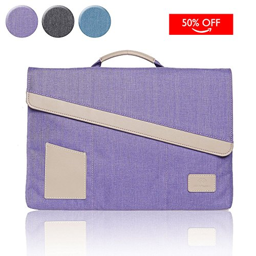 Zoll Samsung Cover 4 Tab 10 (WIWU Laptop Aktentasche für dem neuen MacBook Retina 12 Zoll / iPad 2 3 4 Air 9,7 mit Handgriff / Tablet Handbag / Nylon Notebook Schutz Tasche Hülle ohne Reißverschluss (Lila, 12 Zoll))