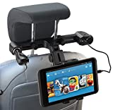 Navitech USB-Anschluss 4.2A Kopfstützenhalterung mit integriertem KFZ-Ladegerät für die LOSKA 10.1 Inch TFT LCD Digital Screen Portable Car Headrest High-definition Multimedia DVD Player