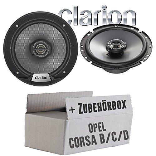 Opel Corsa B/C/D - Lautsprecher Boxen Clarion SRG1723R - 16cm Koaxsystem Auto Einbauzubehör - Einbauset