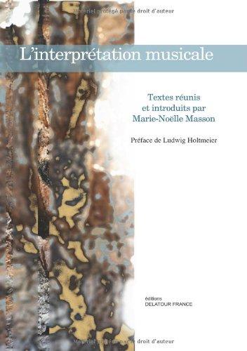 L'interprétation musicale