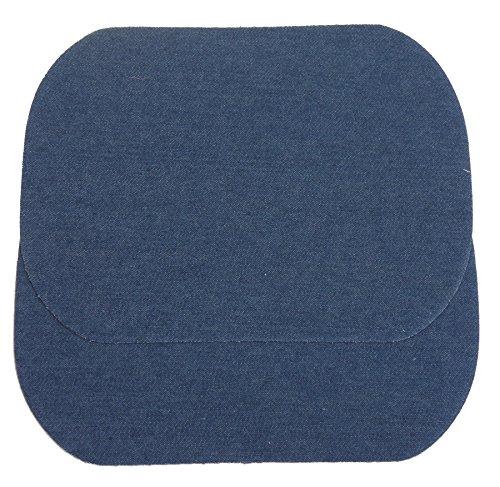 IHS Range 2er Set Bügelflicken Mittelblau zum Aufbügeln 13x18cm I Für Jeans und Mehr I Jeansflicken Ausbesserungsflicken Reparatur-Flicken Reparatursatz