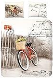 Good Morning 4999-P Bicycle Parure de Couette Coton Multicolore 240 x 220 cm