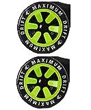 MGP Madd Gear Hinterräder für Drift Trike + Fantic26 Sticker (grün)