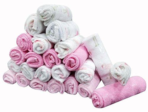 Softan asciugamani per il bagnetto e per il viso, ottimo regalo per neonati, 24 pezzi