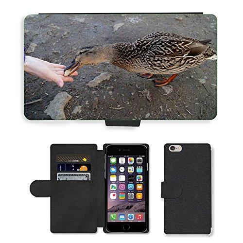 Just Mobile pour Hot Style Téléphone portable étui portefeuille en cuir PU avec fente pour carte//m00138771Canard Sauvage d'Oiseaux d'Eau/bassin/Apple iPhone 6Plus 14cm