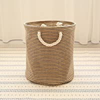 Comparador de precios Best wishes shop canasta de almacenamiento- Cesta de almacenamiento plegable del paño Ropa sucia Dormitorio de la cesta de lavadero 33cm × 35cm ( Color : A ) - precios baratos