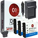 3X DOT-01 Brand Nikon W100 Batteries And Charger For Nikon W100 Digital Camera And Nikon W100 Battery And Charger Bundle For Nikon ENEL19 EN-EL19