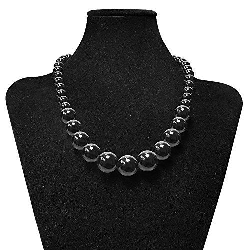 Soul–Cats® Collana di perle in acrilico, rosso/ nero/ bianco , -, colore: black, cod. K165_2