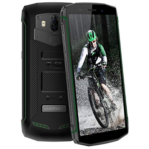 "Blackview BV5800pro - Movil Todoterreno (IP68 Impermeable, 5580mAh Batería 5.5"" 2GB RAM + 16GB ROM Android 8.1 Telefono Resistente,4G Dual SIM Smartphone 13MP Cámara Movil Antigolpes, WIFI, NFC) Verde"