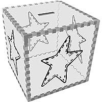Preisvergleich für Azeeda Groß 'Genähter Stern' Klar Sparbüchse / Spardose (MB00061644)