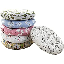 Coussin rond pour tabouret rotin