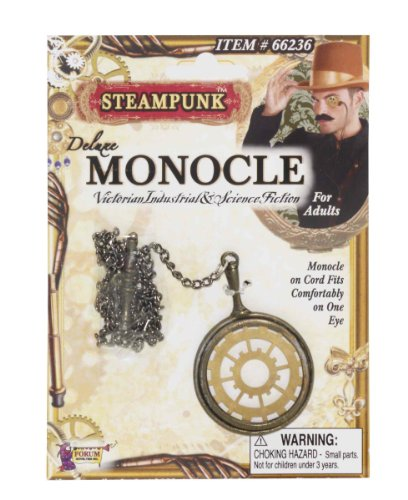 Steampunk Deluxe Monocle Eyewear Costume Accessory