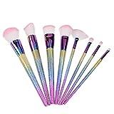 OverDose, 8PCS Maquillage Fondation Sourcil Eyeliner Rougir CosméTique Correcteur Pinceaux(Multicolore)