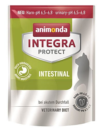 animonda Integra Protect Intestinal Katzen-Trockenfutter | Diät Katzenfutter | Trockenfutter bei Durchfall oder Erbrechen (300 g) (Blut-schleim)