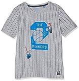 TOM TAILOR Kids Jungen T-Shirt Striped, Grau (Drizzle Melange 8438), 128